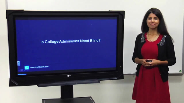 Is College Admissions Need-Blind?