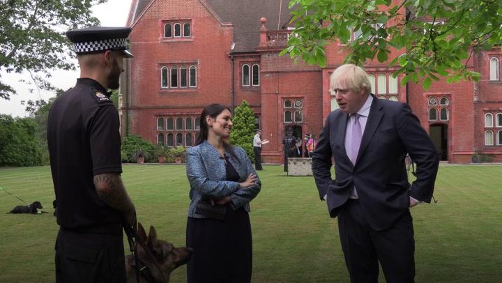 Boris Johnson discusses dog's 'romantic urges' on police visit