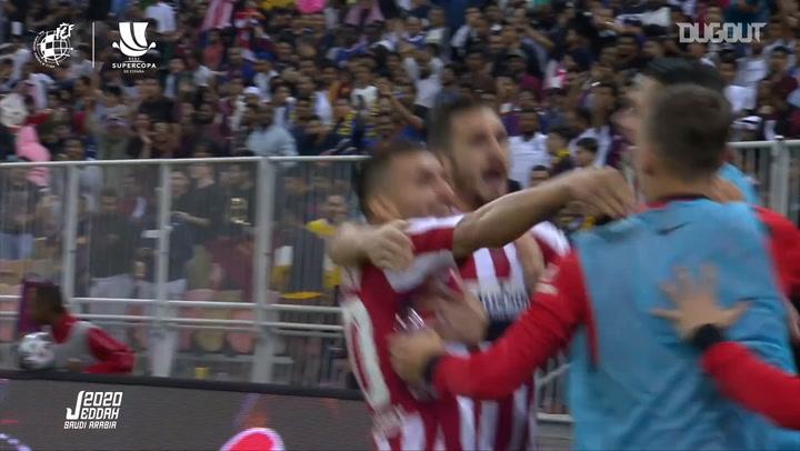 Koke sella un gran ataque del Atlético ante el Barça
