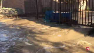 Flooding in Mountain's Edge southwest Las Vegas