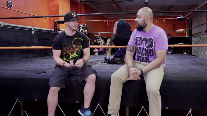 Pro Wrestling Trainer Amazing Red Shows Off His School