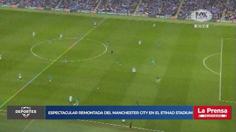 Manchester City está venciendo al Tottenham en espectacular partido