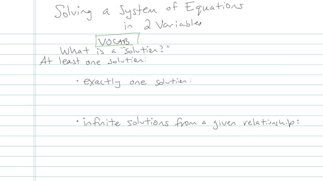 Solving a System of Linear Equations in Two Variables - Problem 10
