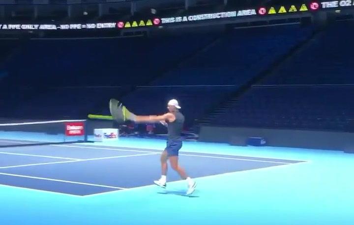Rafael Nadal ya está en Londres trabajando para disputar las Nitto ATP Finals