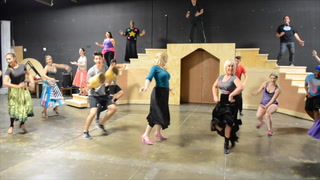 Beauty and the Beast rehearsal for Super Summer Theatre