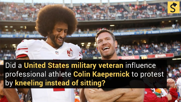 Fact check did a us veteran influence kaepernicks take a knee green beret and nfl player nate boyer confirmed he convinced the quarterback to take a knee rather than sit during the national anthem m4hsunfo