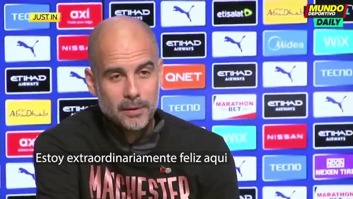 """Guardiola: """"Espero quedarme en Manchester"""""""