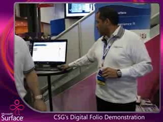 CSG's Digital Folio on Microsoft Surface