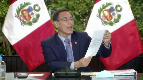 Vizcarra convoca a elecciones en Perú para abril de 2021