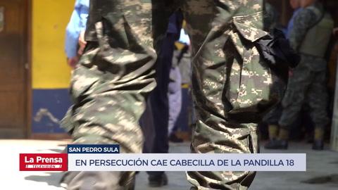 En persecución cae cabecilla de la pandilla 18 en Honduras