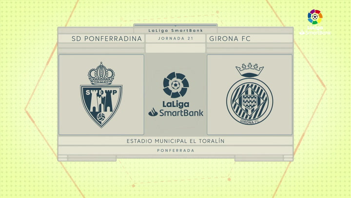 LaLiga SmartBank (J21): Resumen y goles del Ponferradina 1-1 Girona