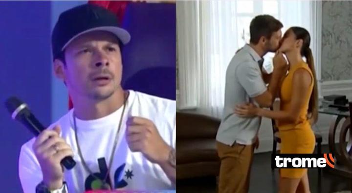 Mario Hart sufre 'ataque de celos' al ver besos de Korina Rivadeneira con otro actor en 'Princesas'