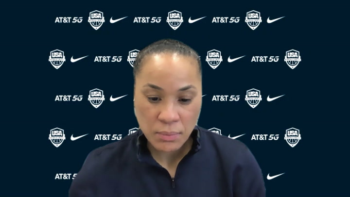 Post Practice With USA Head Coach Dawn Staley (2/5/21)