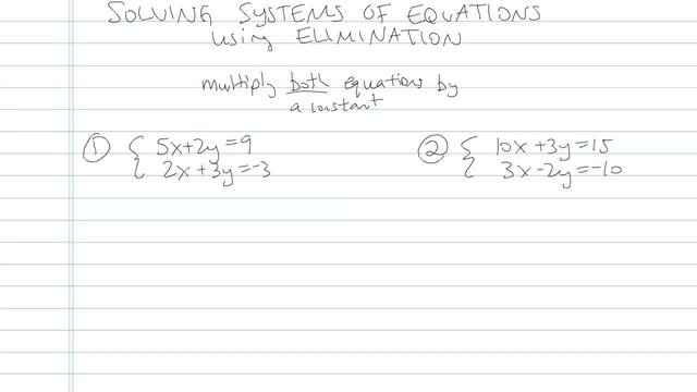 Solving Systems of Equations using Elimination - Problem 5