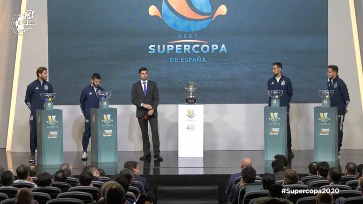 Así ha sido el sorteo de la Supercopa de España que se disputará en Arabia Saudí