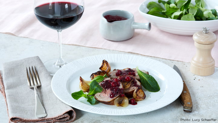 A Perfect Match: Roasted Lamb Loin with Pinot Noir