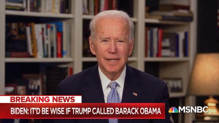 Biden: 'Would Be Wise' if Trump 'Called President Obama'