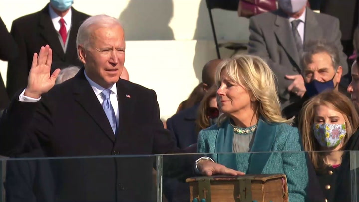 """Joe Biden asume como cuadragésimo sexto presidente de EE.UU y promete """"un nuevo día"""""""