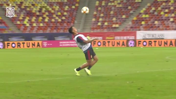 Thiago, Ramos, Hermoso y Dani Ceballos dieron una 'masterclass' de como controlar los balones por alto