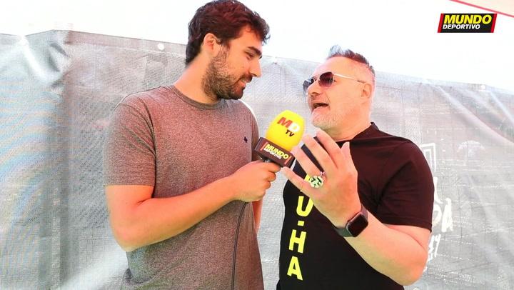 Entrevista MD a Chimo Bayo en la zona VIP de la fan zone del Valencia