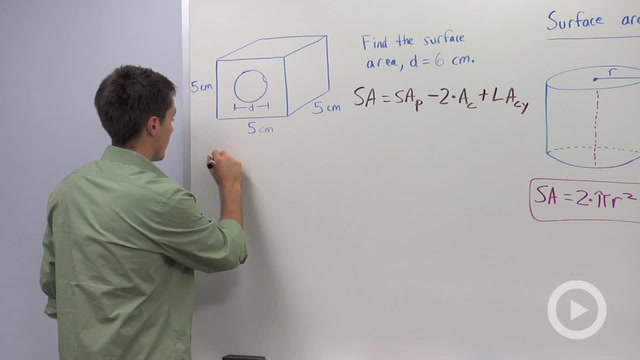 Surface Area of Cylinders - Problem 3