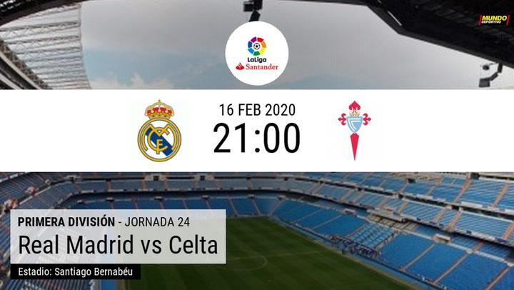 Real Madrid - Celta: la estadística de la previa