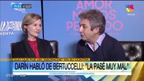 Lo que hizo fue un escrache, dijo Darín sobre Bertuccelli