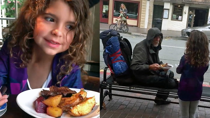 Ella ga middagen sin til en hjemløs