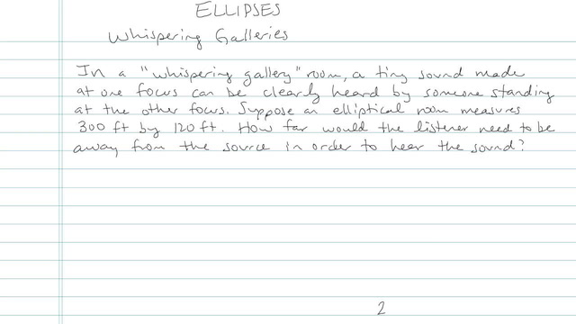The Ellipse - Problem 12