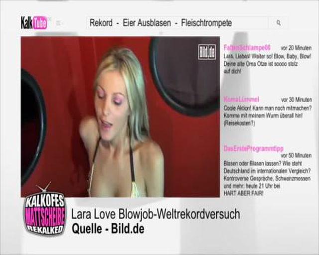 Weltrekordversuch mit Lara Love