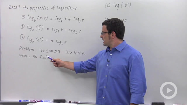 Properties of Logarithms - Problem 1