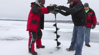 Ice Check on Gull for Ice Fishing Extravaganza