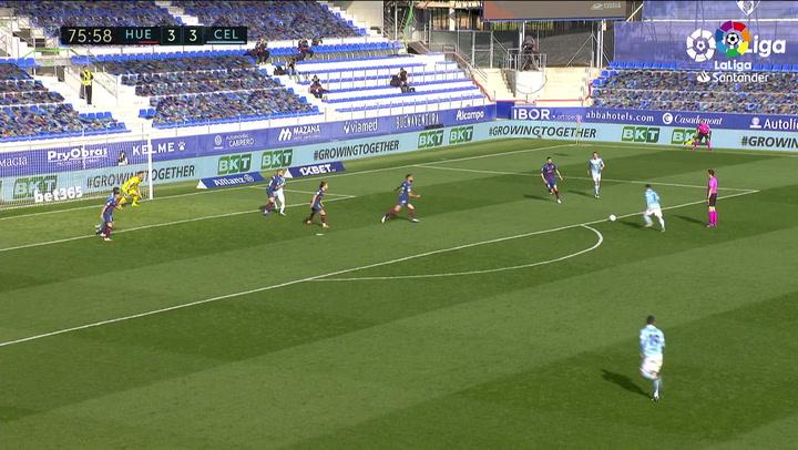 Gol de Fran Beltrán (3-4) en el Huesca 3-4 Celta