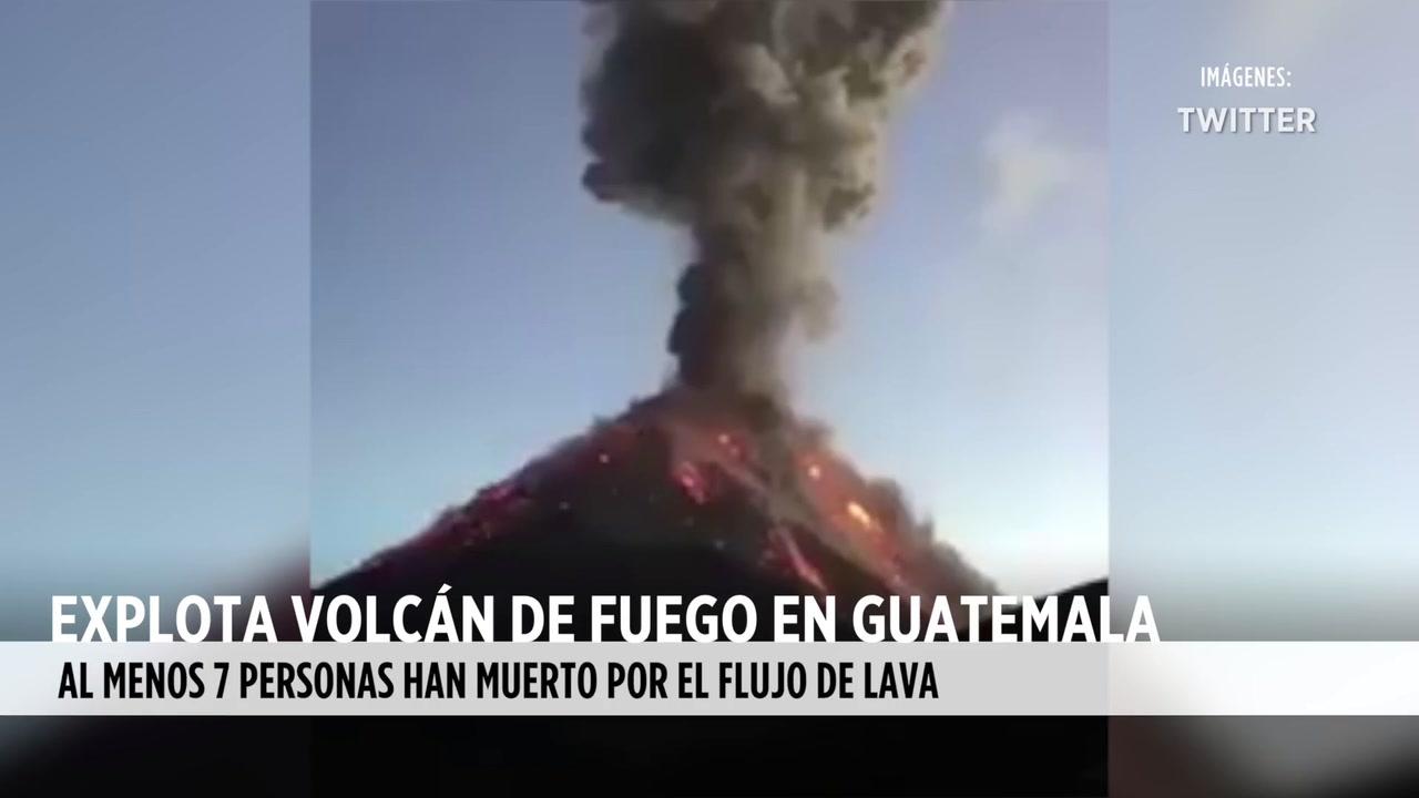 Video: Explota Volcán de Fuego en Guatemala