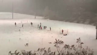 Snow soccer in Las Vegas -VIDEO