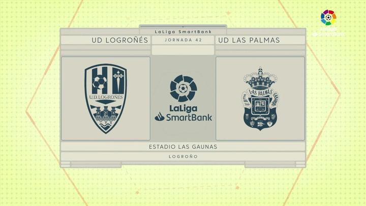 LaLiga SmartBank (J42): Resumen y goles del Logroñés 0-1 Las Palmas