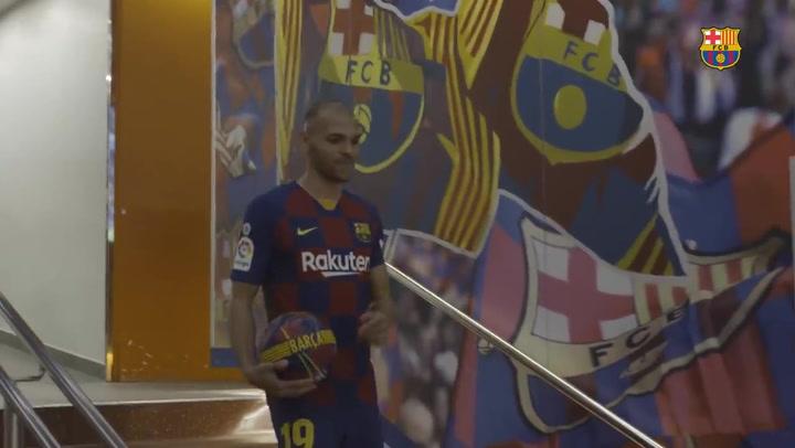 El primer día de Martin Braithwaite como nuevo jugador del Barça