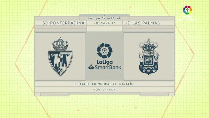 LaLiga SmartBank (J17): Ponferradina 0-0 Las Palmas