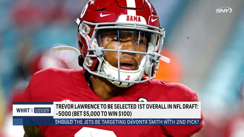 What are the odds the Jets take Alabama's Devonta Smith 2nd overall?