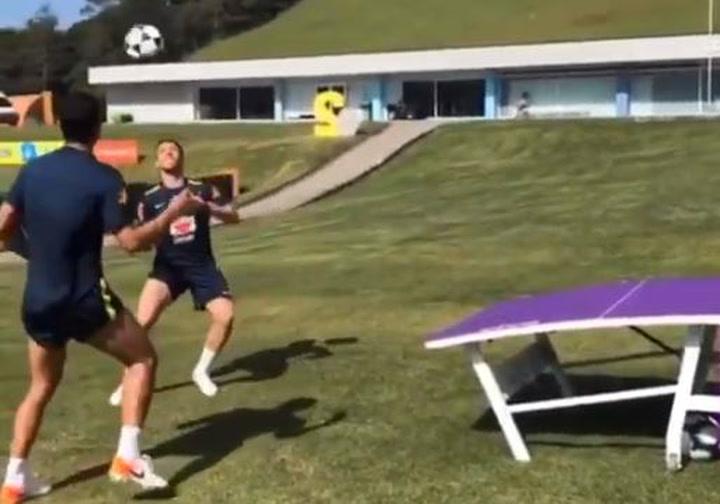 Arthur Melo prepara la Copa América jugando al teqball