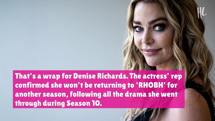 Denise Richards Leaving 'RHOBH' After 2 Seasons Amid Brandi Glanville Affair Drama