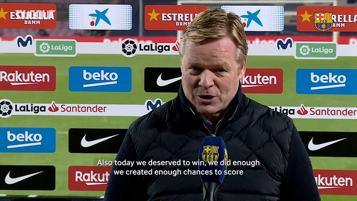 Ronald Koeman: 'We did enough to win the game'