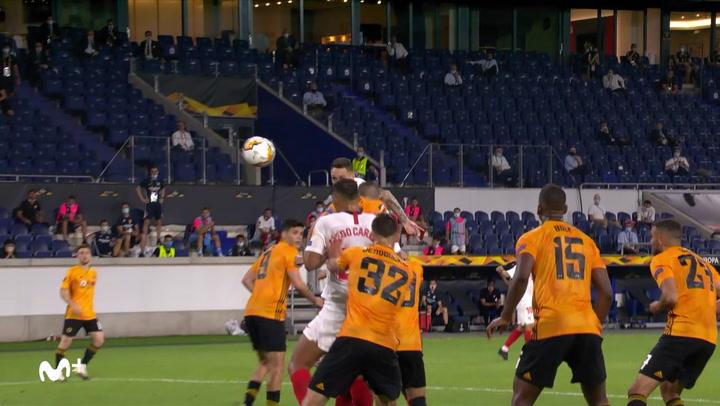 Europa League: Wolverhampton-Sevilla. Gol de Ocampos (0-1).mp4