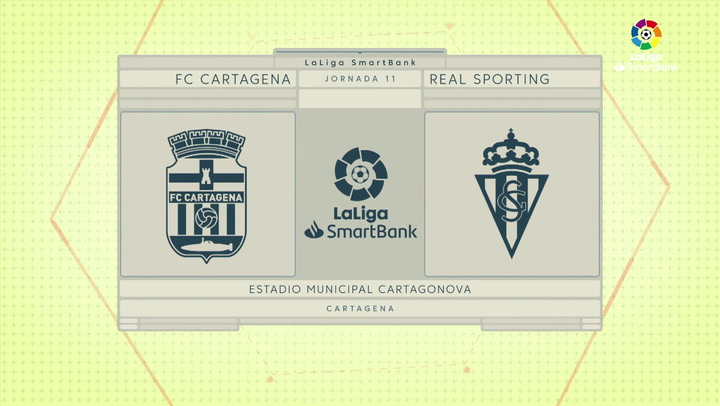 LaLiga Smartbank (Jornada 11): Cartagena 1-0 Sporting