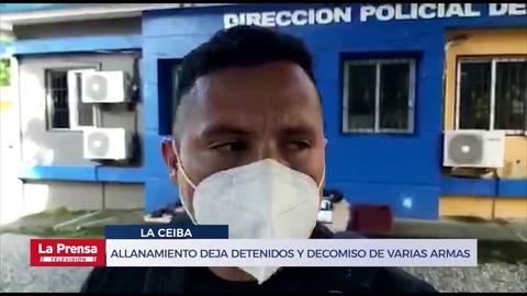 Allanamiento en La Ceiba deja detenidos, decomiso de armas, drone y chalecos antibalas