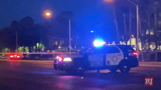 Pedestrian killed when struck by a vehicle in south Las Vegas – Video