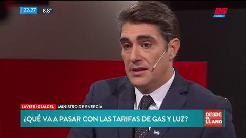 Para Iguacel La luz y el gas tienen precios de producción atrasados que hay que corregir