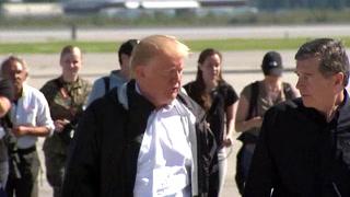 Trump visita las zonas devastadas por Florence en Carolina del Norte