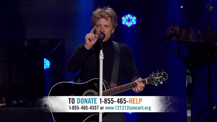 "Shows: 12 12 12 Concert for Sandy: Bon Jovi & Bruce Springsteen: ""Who Says You Can't Go Home"""