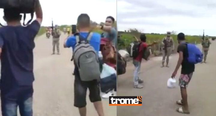 Tumbes: Con disparos, militares impiden el paso a migrantes venezolanos que intentan cruzar la frontera desde Ecuador